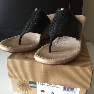 UGGS black wedge sandals